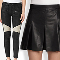 Ladies Leather Skirt and Pants